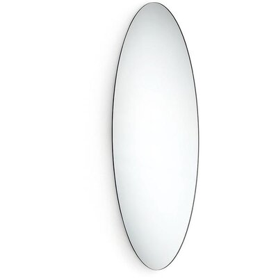 Solari Frameless Oval Bathroom/Vanity Mirror DB20C34EED054F7AB23C55A0C6CD6C1D