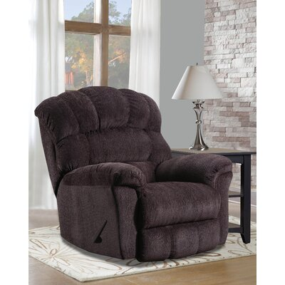 Costales Easy Rider Rocker Recliner Reclining Type: Manual, Upholstery: Brown
