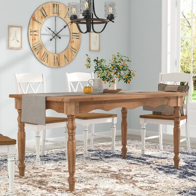 Pinard Solid Wood Dining Table Finish: Nature