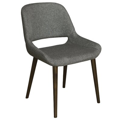 Culligan Upholstered Dining Chair Upholstery Color: Graphite, Frame Color: Walnut