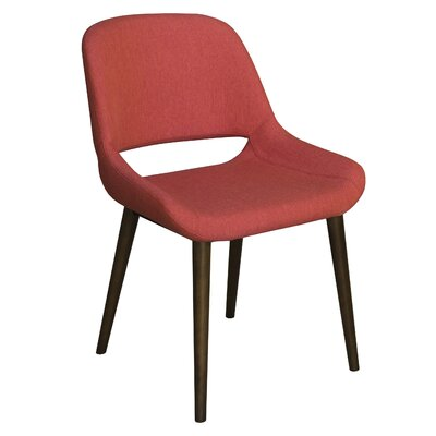 Culligan Upholstered Dining Chair Upholstery Color: Ruby, Frame Color: Flax