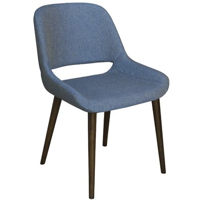 Culligan Upholstered Dining Chair Upholstery Color: Sapphire, Frame Color: Flax