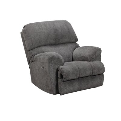 Hepner Rocker Recliner Reclining Type: Power, Upholstery: Ash