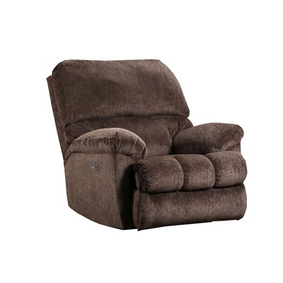 Hepner Rocker Recliner Reclining Type: Power, Upholstery: Chestnut