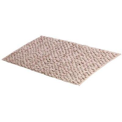 Cuadrado Absorbent 100% Cotton Decorated Bath Rug Color: Brown