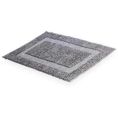 Cuadrado Absorbent 100% Cotton Decorated Bath Rug Color: Gray