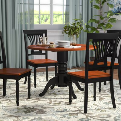 Chesterton 5 Piece Dining Set Finish: Black/Cherry