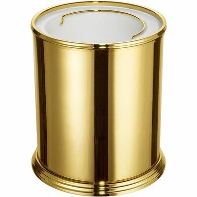 Scala Round Top Brass Open Waste Basket Finish: Gold 89179-G