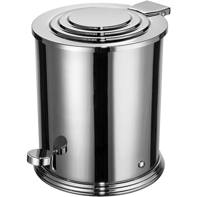Scala Round Brass Step On Trash Can Color: Chrome 89170-CH