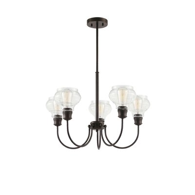 Dahms 5-Light Candle-Style Chandelier