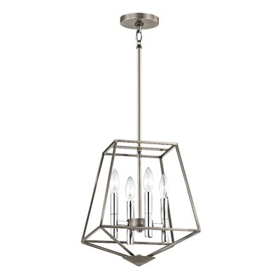 Bracco 4-Light Foyer Pendant Finish: Classic Pewter