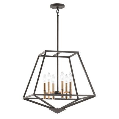 Brace 6-Light Foyer Pendant Finish: Olde Bronze