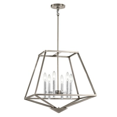 Brace 6-Light Foyer Pendant Finish: Classic Pewter