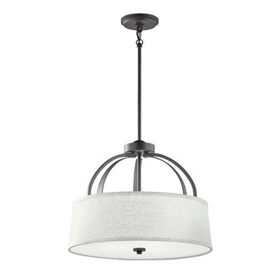 Mullican 3-Light Drum Pendant