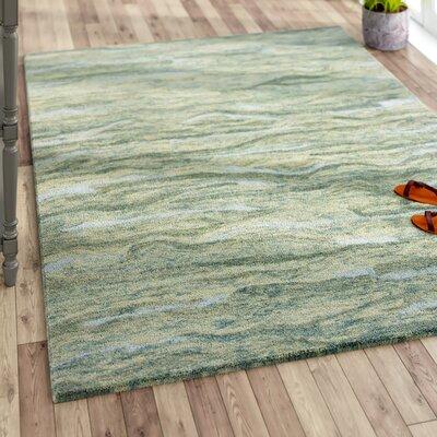 Bonaparte Hand-Tufted Seafoam Area Rug Rug Size: 86 x 116