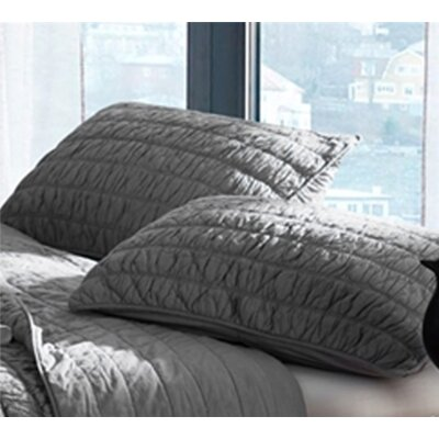 Masson Cotton Pure Textured Sham Size: King, Color: Alloy Gray