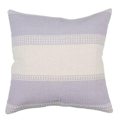 Gaucho Stripe Cotton Throw Pillow Color: Lilac