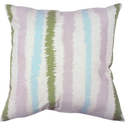 Spring II Stitch Stripe Cotton Throw Pillow