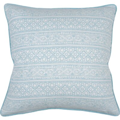 Spring II Jaipur Cotton Throw Pillow Color: Aqua