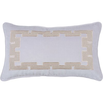 Spring II Aegean Key Cotton Throw Pillow Color: Lilac