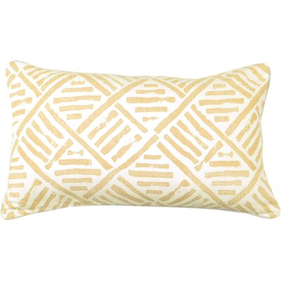 Spring II Trellis Cotton Throw Pillow Color: Bamboo