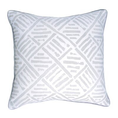 Spring II Trellis Cotton Throw Pillow Color: Pebble