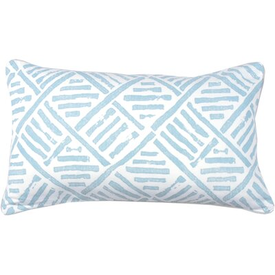 Spring II Trellis Cotton Throw Pillow Color: Periwinkle