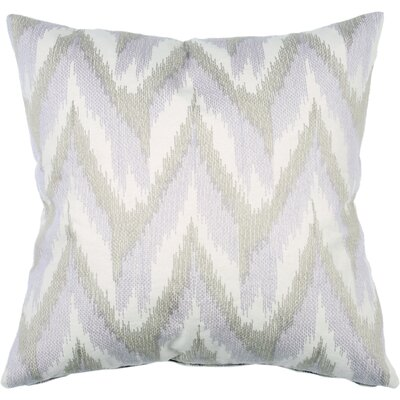 Spring II Flame Ikat Cotton Throw Pillow Color: Lilac