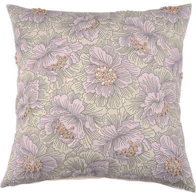 Spring II Vintage Floral Cotton Throw Pillow Color: Lilac
