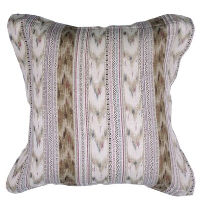 Spring II Bohemia Stripe Cotton Throw Pillow Color: Flax