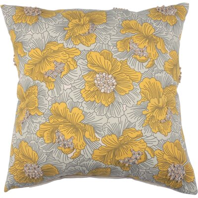 Spring II Vintage Floral Cotton Throw Pillow Color: Bamboo
