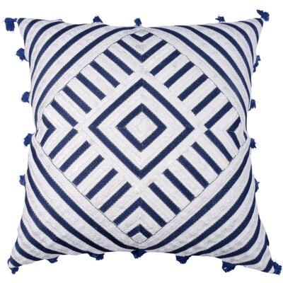 Spring II Diamond Embellished Cotton Throw Pillow Color: Cobalt