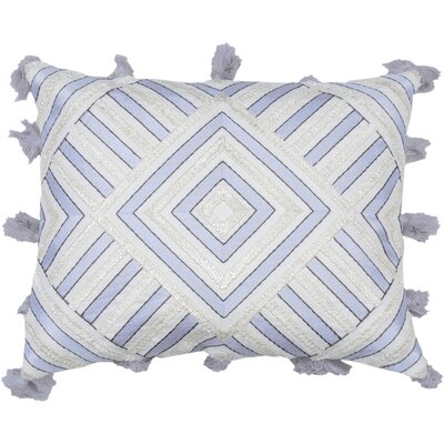 Spring II Diamond Embellished Cotton Throw Pillow Color: Lilac