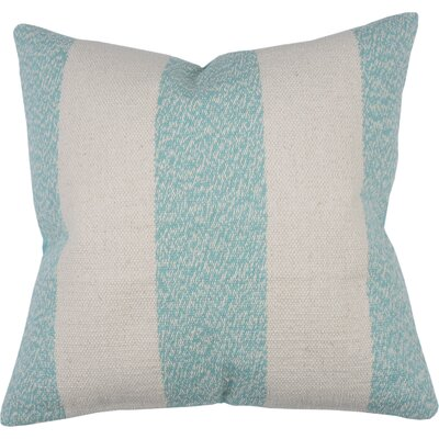 Spring II Club Stripe Cotton Throw Pillow Color: Aqua