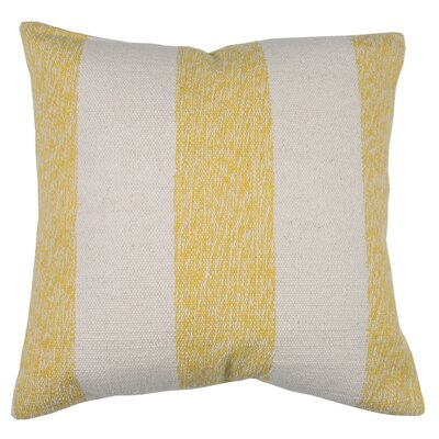 Spring II Club Stripe Cotton Throw Pillow Color: Bamboo