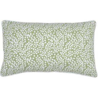 Spring II Eucalyptus Cotton Throw Pillow Color: Fern