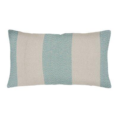 Spring II Club Stripe Cotton Throw Pillow Color: Aqua
