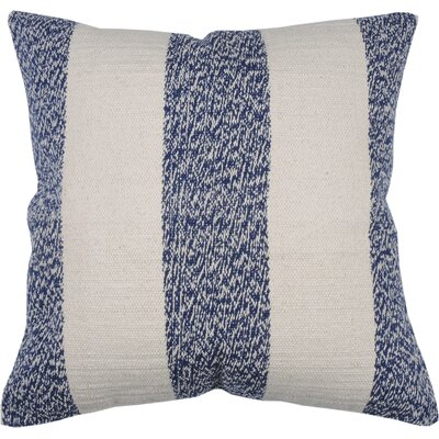 Spring II Club Stripe Cotton Throw Pillow Color: Cobalt
