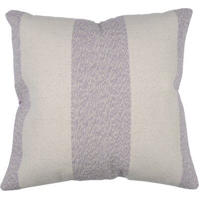 Spring II Club Stripe Cotton Throw Pillow Color: Lilac