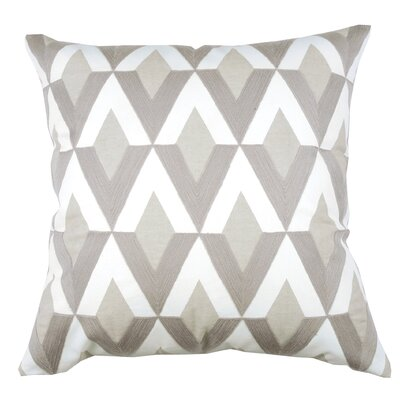 Spring II Diamond Embroidered Cotton Throw Pillow