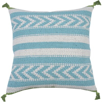 Spring II Riviera Cotton Throw Pillow Color: Aqua
