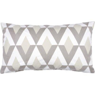 Spring II Diamond Embroidered Cotton Throw Pillow