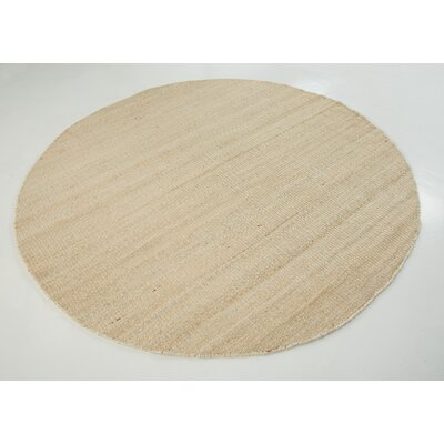 Hand-Woven Bleached Area Rug Rug Size: Round 8