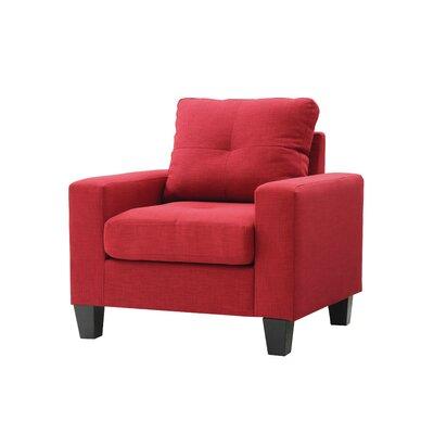 Meurer Armchair Upholstery: Red