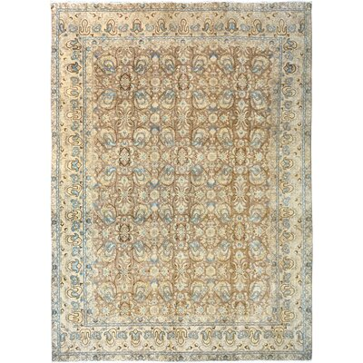 One-of-a-Kind Bedingfield Hand-Knotted Wool Beige/Blue Area Rug