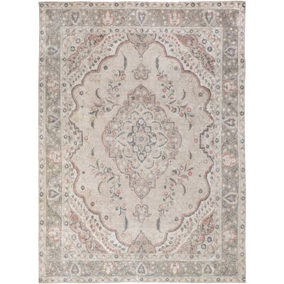 One-of-a-Kind Gosnold Hand-Knotted Wool Beige/Gray Area Rug