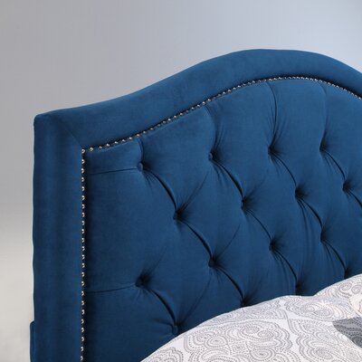 Bridgeton Upholstered Panel Headboard Size: Full/Queen, Upholstery: Navy