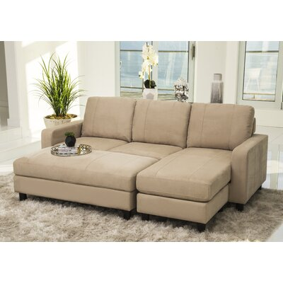 Grindle Modular Sectional with Ottoman Upholstery: Ivory