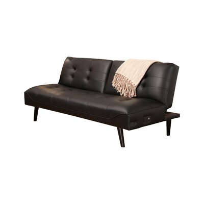 Oshields Click Clack Convertible Sofa Color: Black