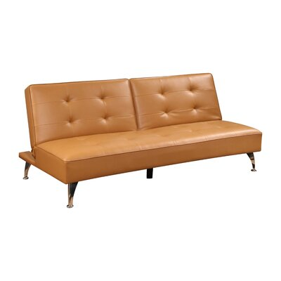 Grimsley Convertible Sofa Color: Camel